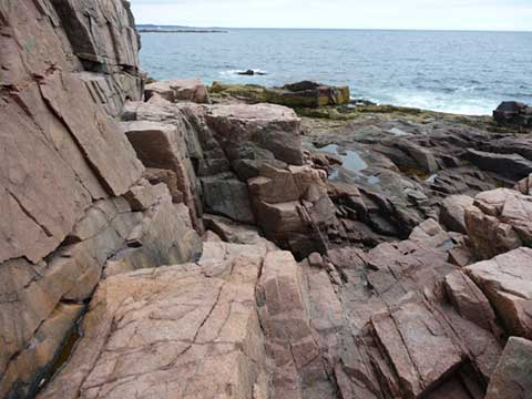 Rocky coast Acadia National Park
