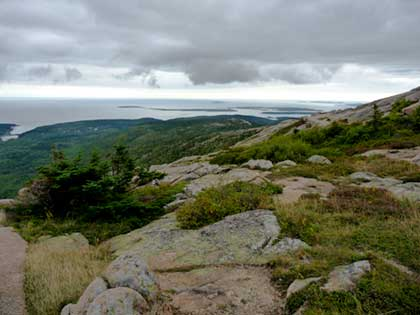 View from Cadillac Mountain Acadia National Park