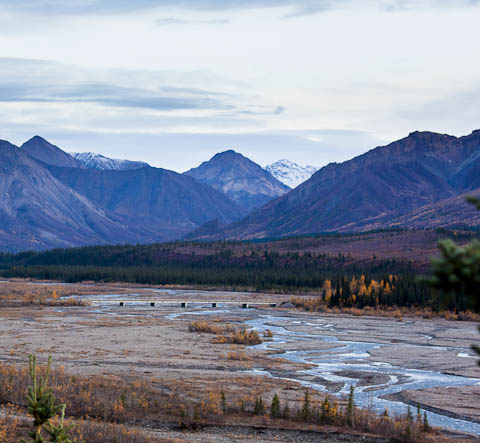 River and mountains in Denali National Park