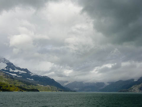 Clouds and Mountains entering Glacier Bay National Park