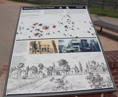 Sign about Appomattox Court house