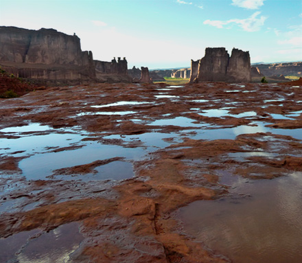 Puddles at Arches National Park