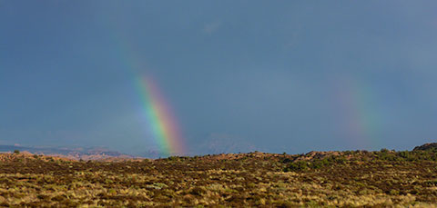Rainbow in Arches National Park
