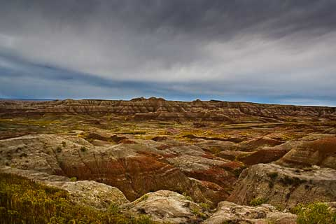 Spires in Badlands
