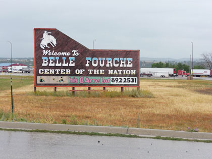 Sign at Belle Fourche Geographic Center of US