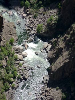 Gunnison River from North Rim  of the Black Canyon of the Gunnison