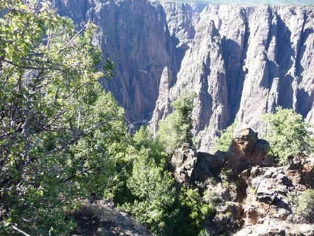 View of Gunnison River from South Rim of Black Canyon National Park