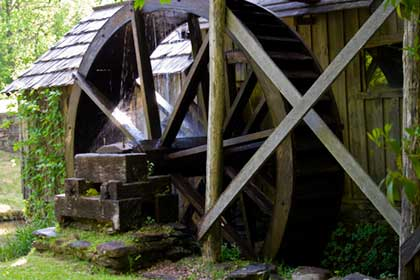 Mill wheel at Mabry Mill