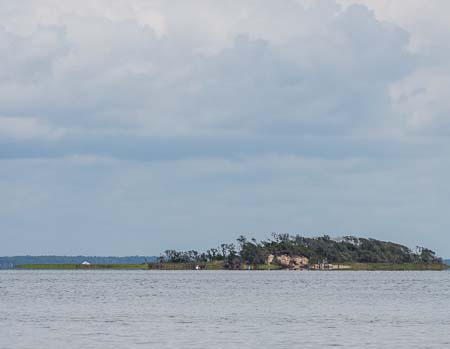 Small island in Bogue Sound