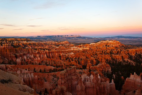 Bryce Canyon showing red hoodoos