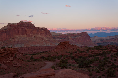 Sunset at Capital Reef