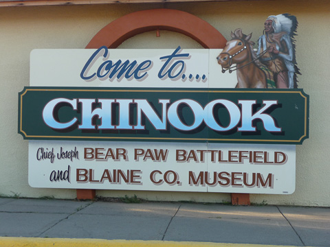 Sign for Chinook Montana