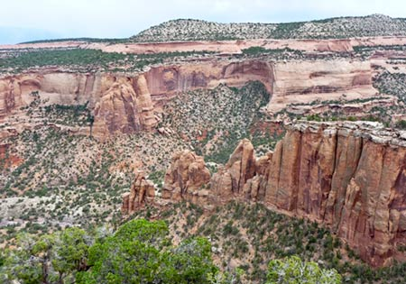 Erosion feature in Colorado National Monument