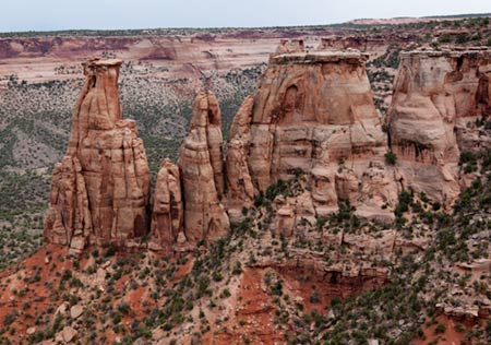Spires in Colorado National Monument