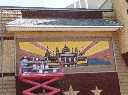 Working on corn palace mural for the 2009 version