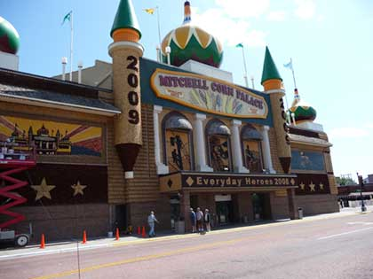 Another view of front of corn palace