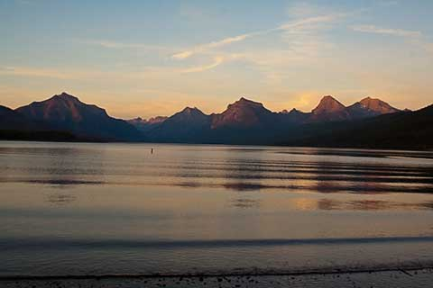 Early sunset Lake McDonald