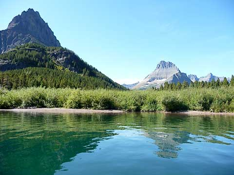 View of Mountains from Lake Level