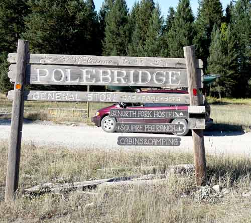 Welcome to Polebridge Sign