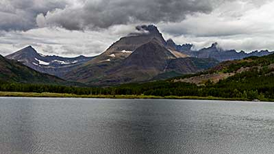 Mountains behind Swift Current Lake, Glacier National Park