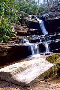 Waterfall Hanging Rock NC