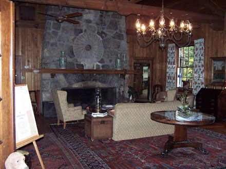 Interior of Lodge on Lake Lure