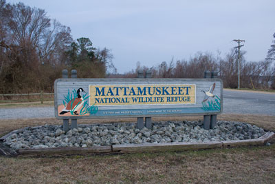 Sign for Lake Mattamuskeet