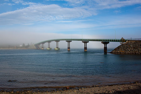Bridge between Lubec and Campbollo Canada