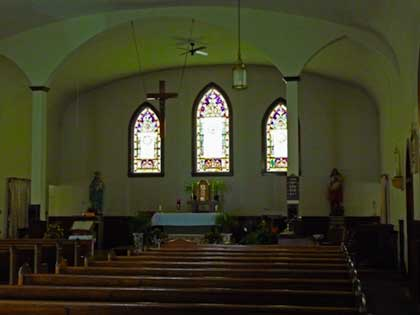 Inside Sacred Heart Church