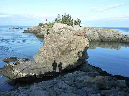 Another view of East Quoddy Light at High Tide
