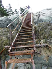 Stairs to East Quoddy Light