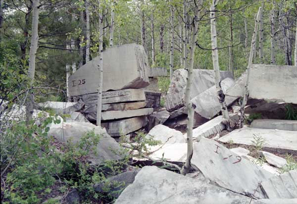 Piles of Marble in Marble Colorado