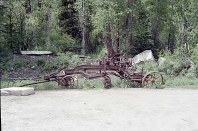 Old road grader in Marble, Colorado