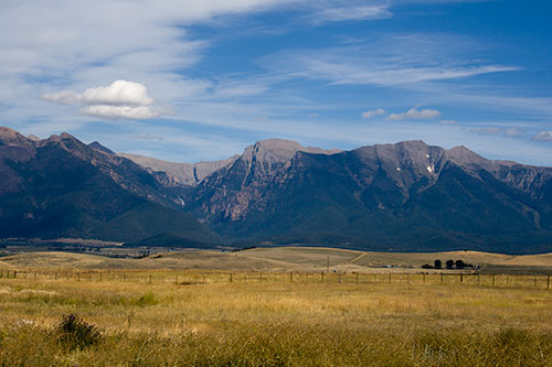 Mountains and sky in Montana