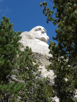Washington's head at Mount Rushmore