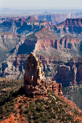 Mount Hayden North Rim of Grand Canyon