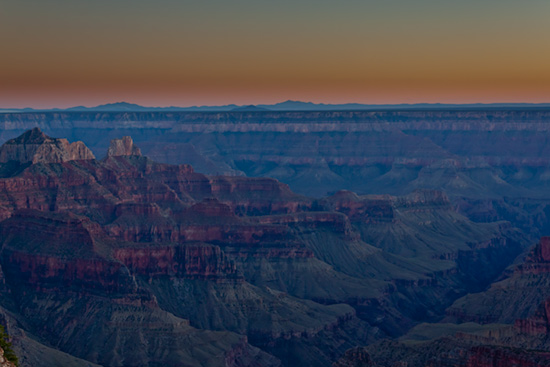 Sunset at North Rim of the Grand Canyon