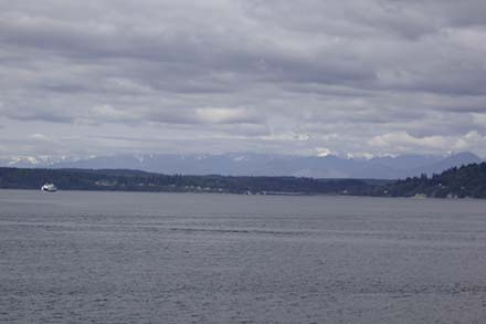 View of Olympic National Park from Ferry