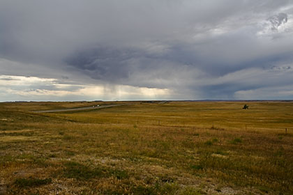 Western SD plains with storm coming