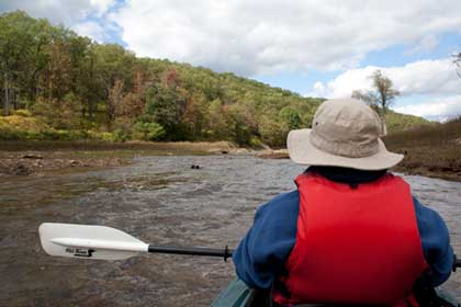 Paddling in Pennsylvania river
