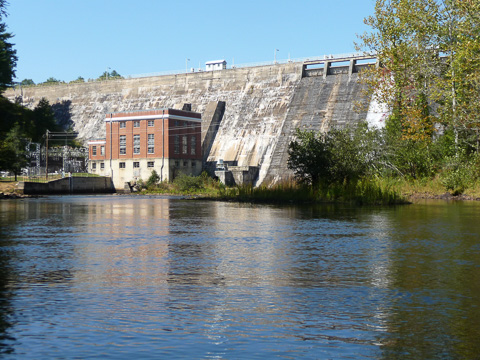 Dam and power plant lake Seed