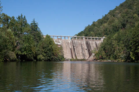 Tugalo Dam at Lake Yonah