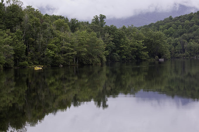 Julian Price Lake on the Blueridge Parkway