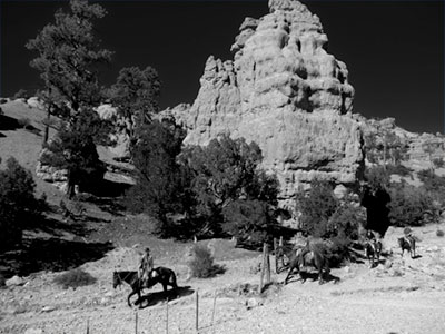Horse riders in Red Canyon