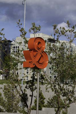Ampersand in Seattle Waterfront Art Garden