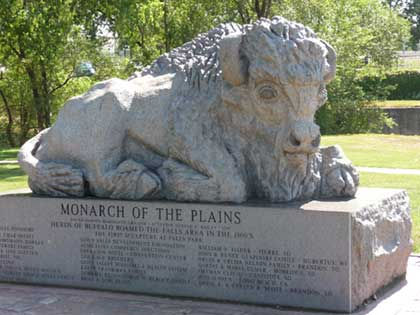 Statue of Buffalo title Monarch of the Plains