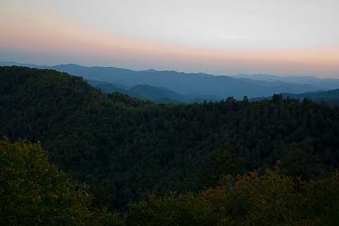 Smoky Mountain Early Sunset