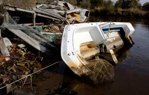 Abandoned Boat Stumpy Point, NC 2008