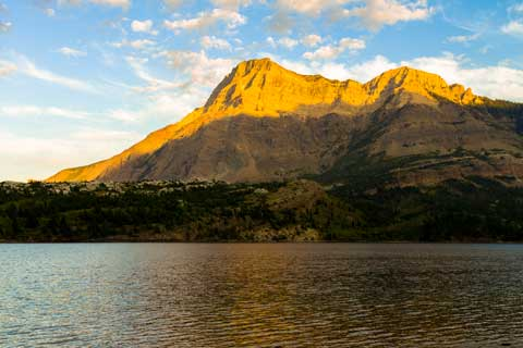 Mountains and Waterton Lake